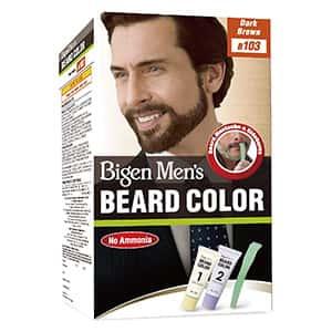 Tinte de cabello castaño oscuro para barba y bigote °