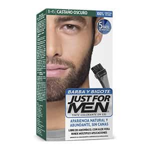 Tinte para barba y bigote castaño oscuro °