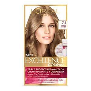 Tinte para cabello rubio cenizo L'Oréal Paris 7.1