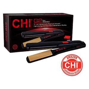 Plancha para pelo de cerámica/titanio CHI °