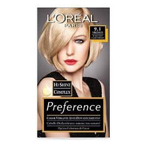 Tinte para cabello rubio claro cenizo L'Oréal Paris 9.1