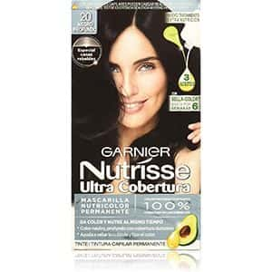 Tinte para cabello negro profundo, Garnier 20-Nutrisse