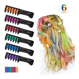 Tinte tiza para cabello fiesta/cosplay 6 colores °