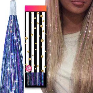 Luces extensiones para cabello 102cm, 100 mechones aprox.
