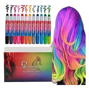 Tintes plumas de tiza para el cabello 12 pzs. °