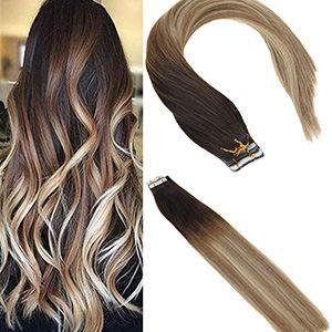 Extensiones para cabello balayage 46cm, 20pzs. por set, 50g