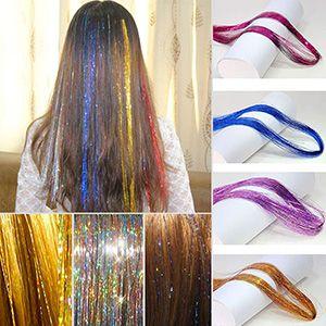 Extensiones brillantes para cabello 10 colores, 110cm