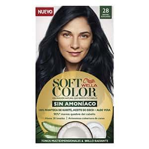 Tinte sin amoniaco para cabello negro azul °