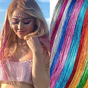 Extensiones luces brillantes para cabello 10 colores