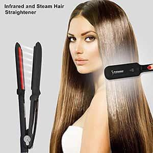 Plancha para cabello de vapor Infrared&Steam °