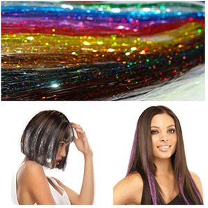 Extensiones de seda para cabello 10 colores, 1.74 mts.