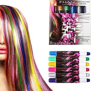 Tintes pluma tiza para el cabello 6 Colores °