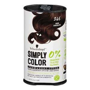 Tinte para cabello chocolate oscuro Schwarzkopf °