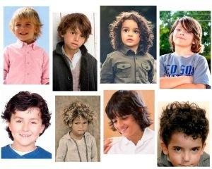 Niños con pelo largo