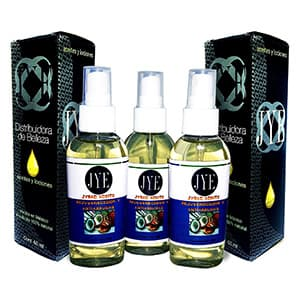 3 frascos Aceite coco/argan colágeno para el cabello °