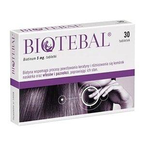 Biotina vitaminas para el cabello Biotebal 30 cáps. °