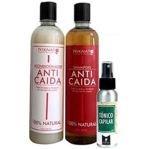 Shampoo, acondicionador y tónico anti-caída °