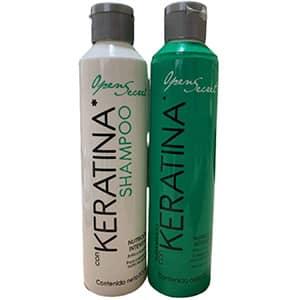Tratamiento y shampoo para cabello con keratina °