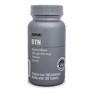Biotina vitamina B8 para el cabello GNC 100 cáps. °