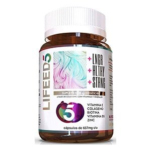 Biotina/Colágeno/vitamina E,B5,Zinc 60 cáps. °