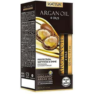 4 aceites de argán, lino, keratina y sésamo Kativa °