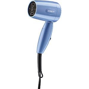 Conair Vagabond Compact - Secador de cabello con mango plegable de 1600 vatios; Azul