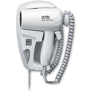 Andis - Secador de cabello suspendido, silencioso, montado en la pared, de 1600 vatios, con luz nocturna, blanco (30975)