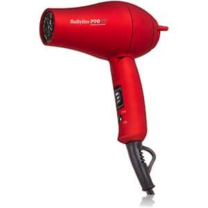 Babyliss Pro TT Turmalina y Titanio Secadora de Cabello para Viajes, color rojo