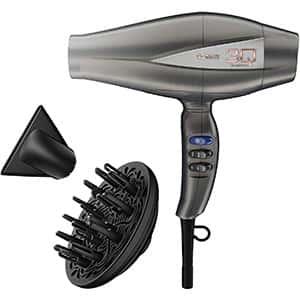 INFINITIPRO BY CONAIR Herramienta avanzada para el peinado del motor sin escobillas / secador de pelo; Plata