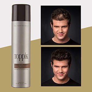 Espesante de cabello coloreado marrón claro Toppik 5.1 oz