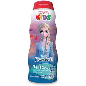 3 en 1 Acondicionador, shampoo, jabón para niña Huggies °