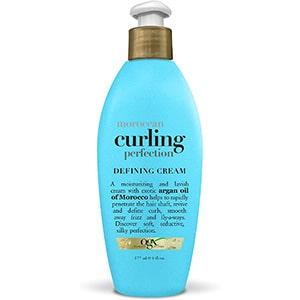 Crema para cabello rizado con aceite de argán hidratante OGX 6 oz °