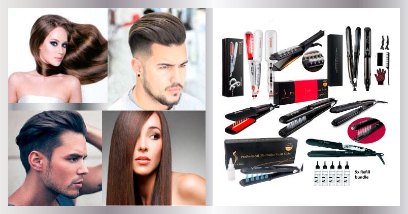 Plancha de vapor para cabello
