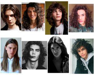 chicos con pelo largo