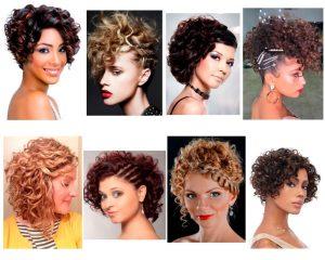 peinados-para-cabello-chino-corto-para mujer
