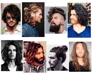 pelo largo ondulado hombre