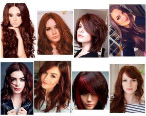 cabello color chocolate rojizo