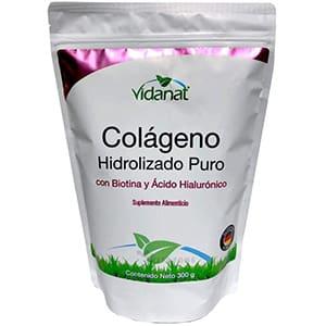 Colágeno hidrolizado puro, biotina/acido hialurónico 300grs. °