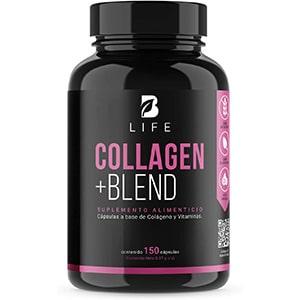 Colágeno, biotina, acido pantoténico/fólico, vitamina E/A/C. 150 caps. °