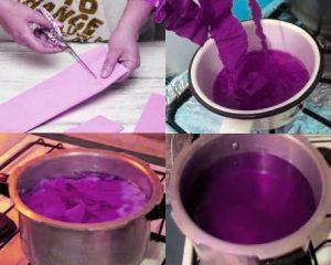Forma de cómo hacer tinte casero con papel china