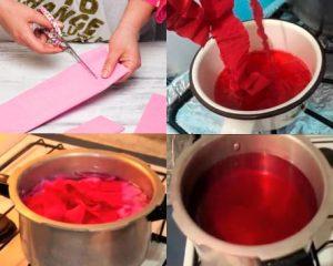 Forma de cómo hacer tinte casero con papel crepe