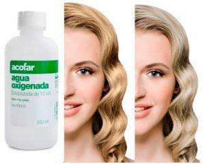 como decolorar el cabello con agua oxigenada
