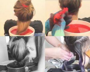 como pintarse el pelo con papel china