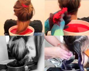 como pintarse el pelo con papel crepe