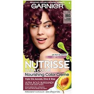 Tinte borgoña intenso Garnier Nutrisse Ultra color BR3 °