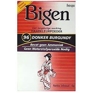 Tinte Bigen en polvo borgoña oscuro 96 permanente 6grs