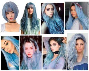 pelo gris azulado