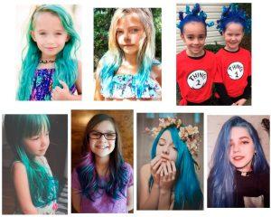 niñas-con-el-cabello-pintado-de-azul