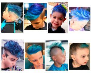 niños-con-el-cabello-pintado-de-azul