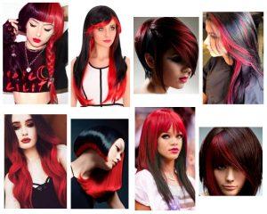 cabello-negro-con-rojo